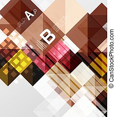Vector square elements on gray abstract background with...