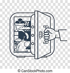 concept of a diet safe refrigerator - The concept of a diet,...
