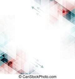 Technology abstract vector bacgkround with arrows and triangles.