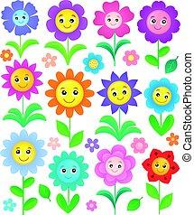Happy flowers topic set 2