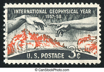 stamp - UNITED STATES - CIRCA 1958: stamp printed by United...