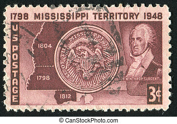 stamp - UNITED STATES - CIRCA 1948: stamp printed by United...