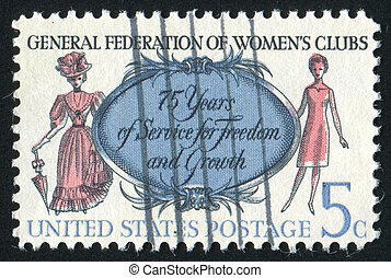 stamp - UNITED STATES - CIRCA 1966: stamp printed by United...