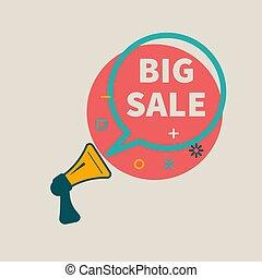 Big sale - Megaphone with bubble with inscription big sale....