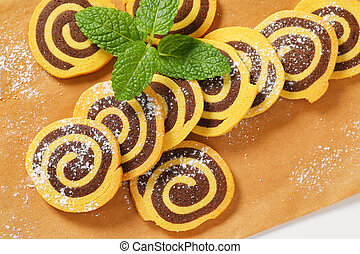 sweet chocolate rolls