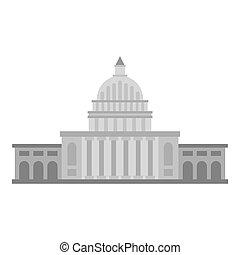 White house icon isolated - White house icon flat isolated...