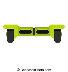 Green hoverboard icon isolated