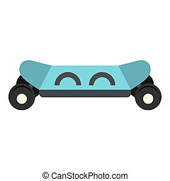Skateboard electric smart icon isolated