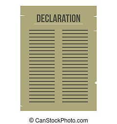 Declaration of Independence icon isolated