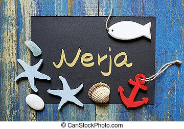 postcard from Nerja, Costa del Sol, Spain