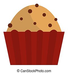 Muffin with raisins icon isolated - Muffin with raisins icon...