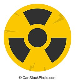 Nuclear sign icon isolated