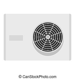 Air conditioner compressor unit icon isolated