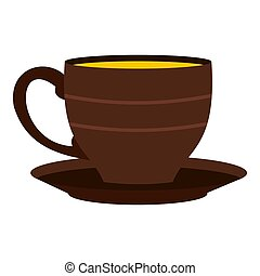 Cup icon isolated