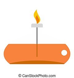 Chemical alcohol burner icon isolated - Chemical alcohol...