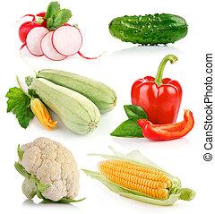 蔬菜, 綠色, 集合, 葉子, 新鮮