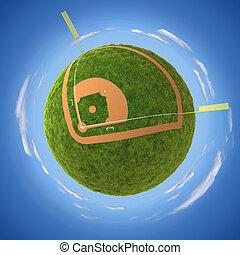 Baseball field - Round baseball field