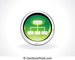 abstract sitemap icon vector illustration