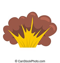 High powered explosion icon isolated - High powered...
