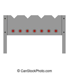 Steel brazier icon isolated - Steel brazier icon flat...