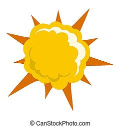 Powerful explosion icon isolated - Powerful explosion icon...