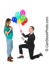 proposition de mariage - Man is doing a proposition de...