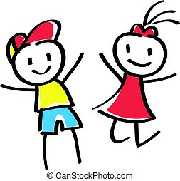 stick boy and girl