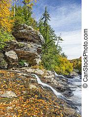 Autumn Confluence on the Yougiogheny - Muddy Creek splashes...