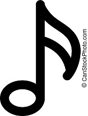 eighth music note