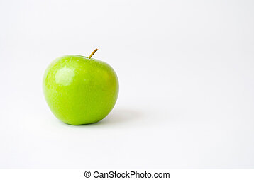 Green Apple Isolated on a White Background - Green apple...