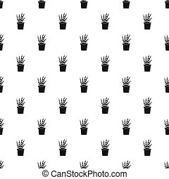 Succulent pattern seamless in simple style  illustration