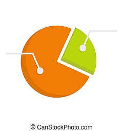 Colorful pie graphic chart icon isolated