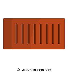 橙, 磚, 被隔离, 圖象