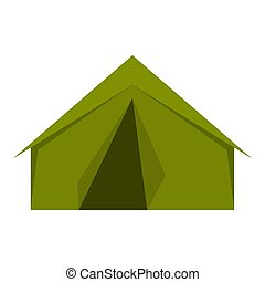 Tourist or a military tent icon isolated
