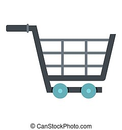 Online shopping icon isolated