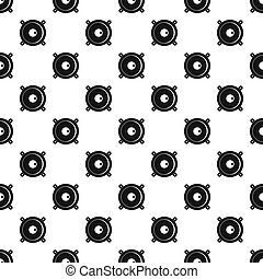 Audio speaker pattern seamless in simple style  illustration