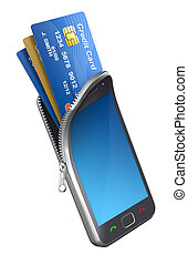 Credit cards in the mobile phone