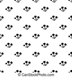 Explosion pattern seamless in simple style  illustration