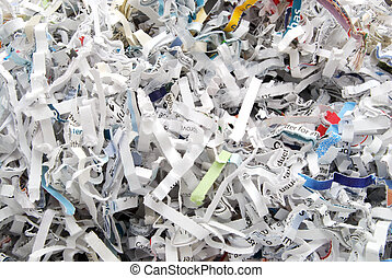 Shred - shredded paper