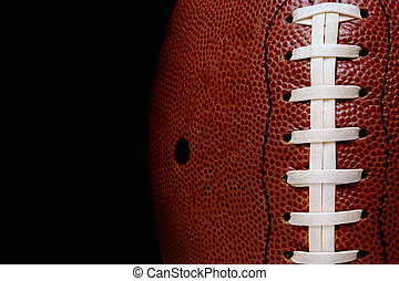 Leatherball - close up of a football