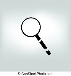 vector magnifier, loupe, magnifying glass