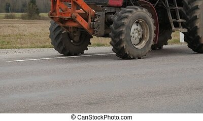 Road service clean up the roadside. - Tractor - road service...