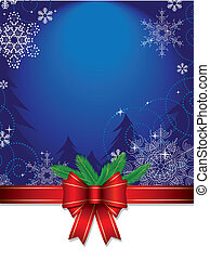 Christmas Background - Christmas background with glossy red...