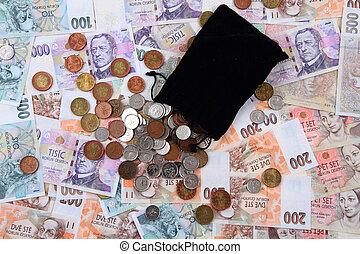 czech money background - czech money texture as nice...