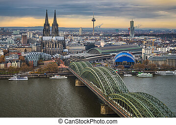 Skyline of Cologne, Germany