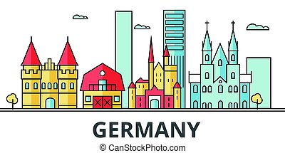 Germany city skyline.