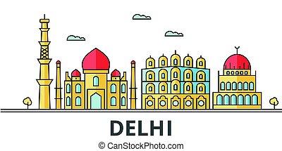 Delhi city skyline.