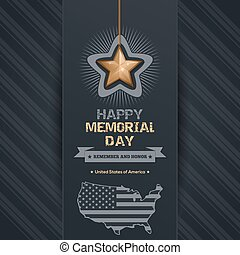 Poster for Memorial Day with map of the USA