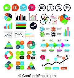 Accounting icons. Document storage in folders. - Business...
