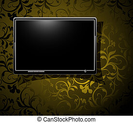 LCD panel with vintage background